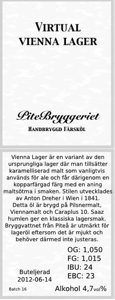 16 2B Vienna Pilsner