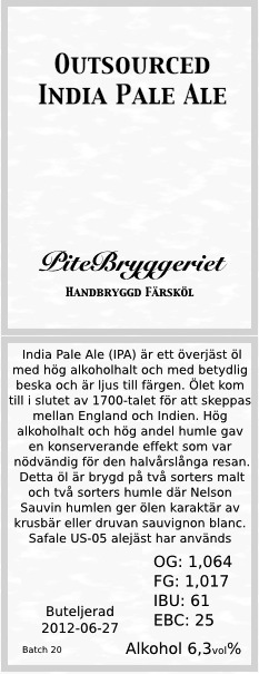 20 4B- Outsourced India Pale Ale